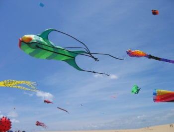 Rogallo Fesitval Kite Display Jockey's Ridge