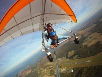 Mile high tandem hang gliding