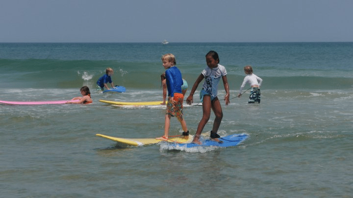 surfing camp kids outer banks nc - Surf Kayak & SUP Adventure Camp