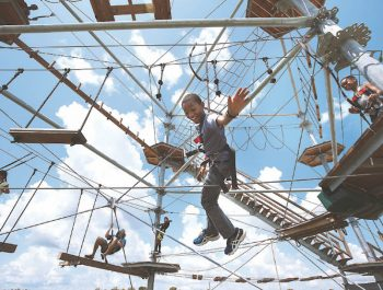 Kitty Hawk Kites Adventure Tower Ropes Course