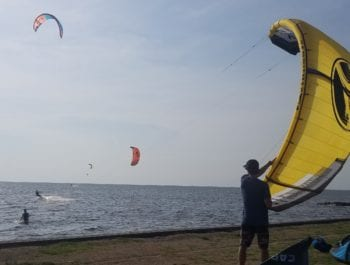 Kiteboarding Kite Launch